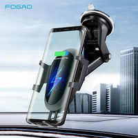 FDGAO 10W cargador inalámbrico para coche para iPhone 11 Pro XS Max XR X Qi de carga rápida para teléfono de coche soporte para Samsung S10 S9 Note 10