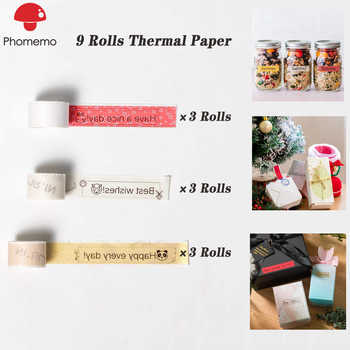 9 Rolls Phomemo Printable Sticker Paper Roll for Phomemo M02S Printer Self-Adhesive Printable Photo Adhesive Paper for Phone