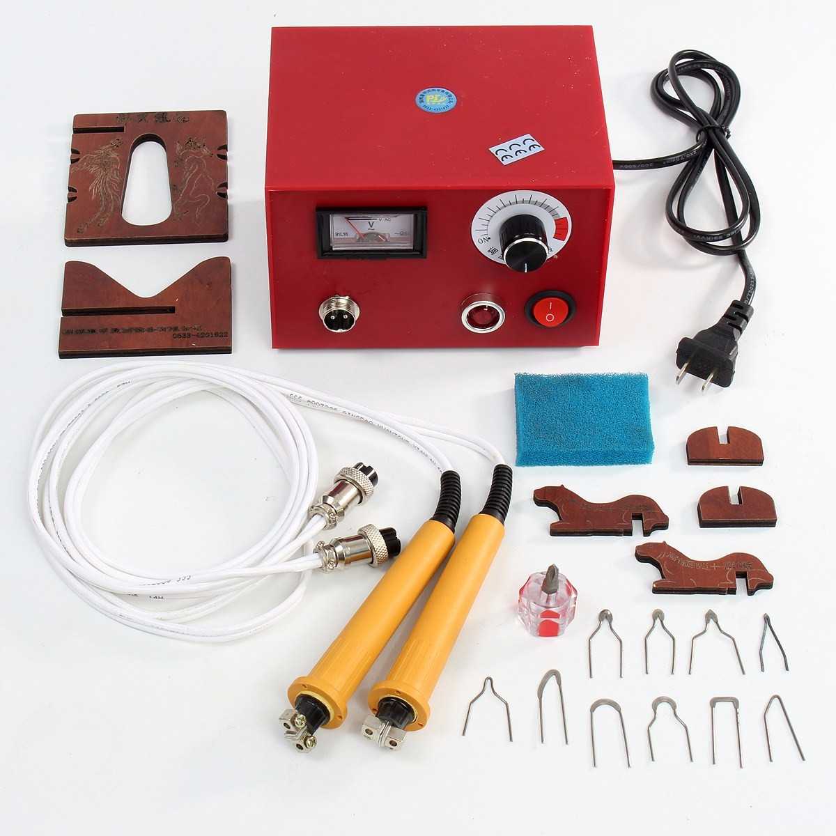 WOLIKE 220V Professional Multifunction Pyrography Machine Gourd Wood Pyrography Crafts Tool Kit Set Electrocautery Pen Machine