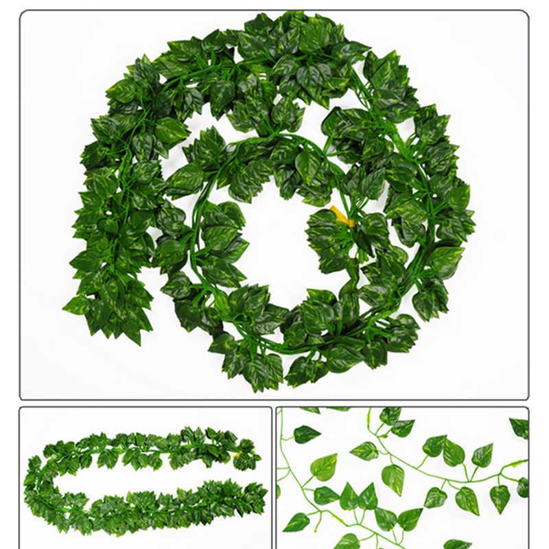 2M طويل محاكاة النباتات الأخضر ورقة اللبلاب/التوت وهمية العنب كرمة زهرة اصطناعية سلسلة أوراق الشجر يترك المنزل الزفاف حديقة ديكور