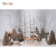 Yeele Christmas Photocall Nut Pine Star Sled Branch Photography Backdrops Personalized Photographic Backgrounds For Photo Studio