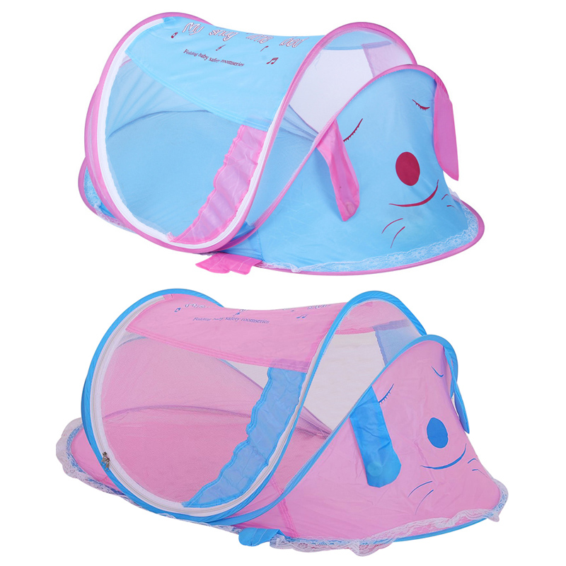 New Cute Baby Cotton Bedding Bed Canopy Bedcover Curtain Portable Folding Newborn Cartoon Bed Mosquito Net Infant Kids Tent I