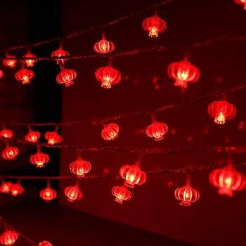 LED Red Lantern/Chinese Knots Shape String Lights Pendant for Lantern Festival New Year Decor Waterp