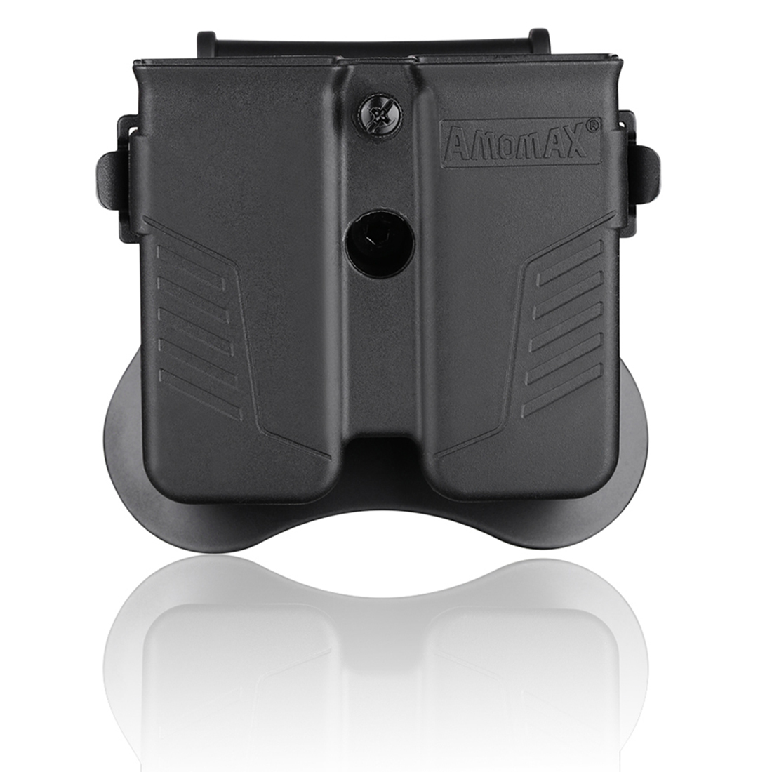 NFSTRIKE Amomax Tactical Double Magazine Pouch For Universal 9mm .40 .45 Caliber Single Double Stack Magazines - Black