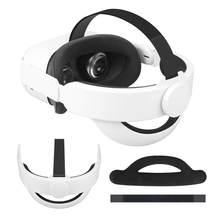 Q2 alça de cabeça ajustável para oculus quest 2 elite cinta vr headband conforto almofada de espuma substituição cinta-reforçada apoio & conforto