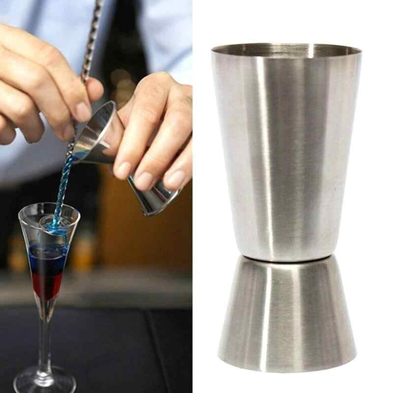 1pc 15/30ml di Misura In Acciaio Inox Tazza di Misurazione Tazza di Bevanda Mixer Liquido Da Cocktail Tazza di Vetro di Vino Jigger di misura Oncia L3N5