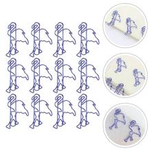 12Pcs Animal Shaped Bookmark Clips Cat Design Clips Paper Clips