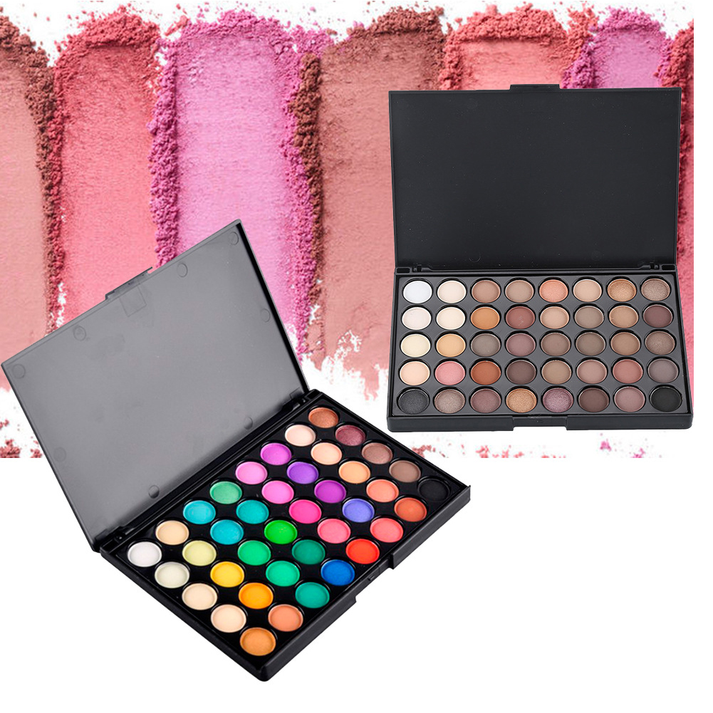 Hot 40 Colors Cosmetics Shimmer Matte Eyeshadow Makeup Palette Beauty Accessory