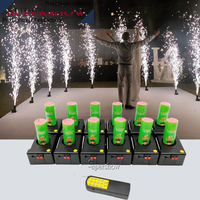 Wireless remote control 12pcs stage funtain cold fireworks&spark pyrotechnics firing system machine for wedding stage