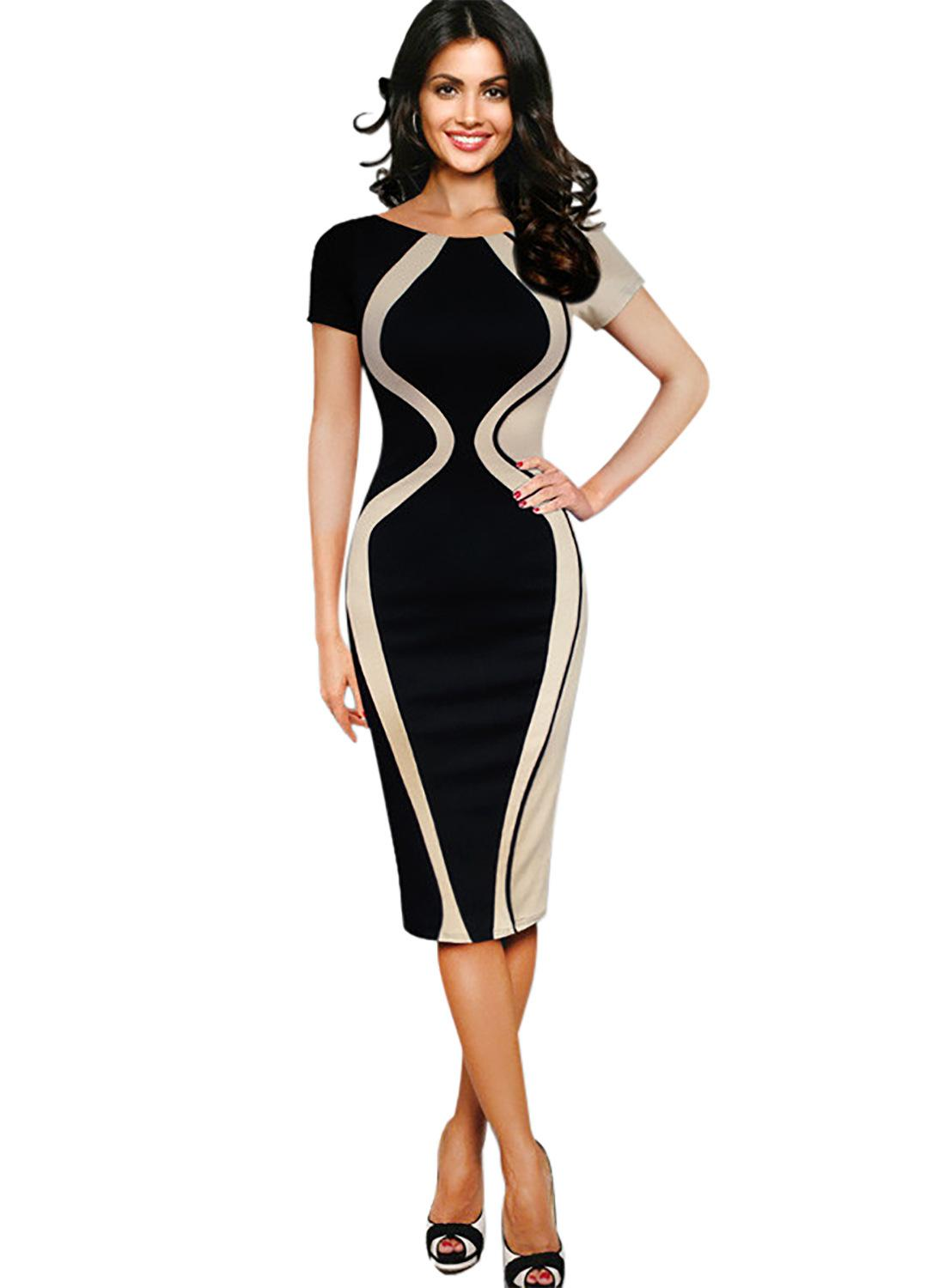 Jocoo Jolee Women Business Pencil Dress Casual Work Office Dress Sexy Bodycon Dress Evening Party Dress Plus Size S-5XL(China)