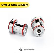 UWELL bobina de repuesto Dual SS904L y malla UN2, paquete de 4 unidades, cabezal de bobina 0,2/0,23/0.4ohm para tanque de cigarrillo electrónico Crown 4
