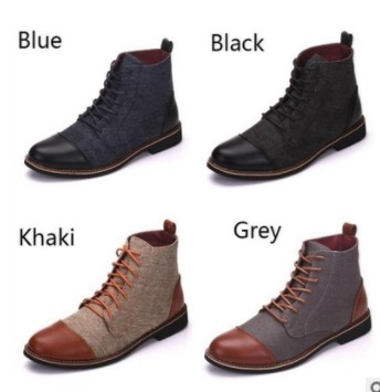 Hot Sale BabeBcBd 2019 new Large size men's quilted leather boots Martin boots men's casual high shoes