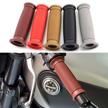 Modified Motorcycle Handlebar Grip Vintage Cafe Racer Motorbike Handle Non-Slip Retro Moto Accessories 22mm Universal
