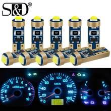 10 sztuk T5 74 W1.2W W3W 286 Super jasne LED żarówki Auto klin deski rozdzielczej wskaźnik lampa ostrzeżenie samochodu wskaźnik zestaw wskaźników światła