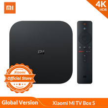Wersja globalna Xiaomi mi TV Box S 4K HDR Android TV Strea mi ng odtwarzacz multimedialny i Google asystent pilot zdalnego Smart TV mi Box S(China)