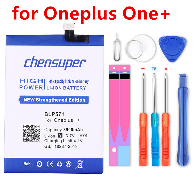 chensuper <font><b>One</b></font> <font><b>Plus</b></font> Replacement <font><b>Battery</b></font> For OnePlus 5 5T 3 <font><b>3T</b></font> 2 1 1+ BLP571 BLP597 BLP613 BLP633 BLP637 Retail Package Free Tools image