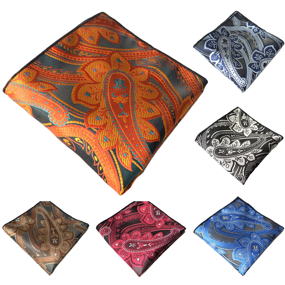 Men Pocket Square Paisley Printed Hanky Gentlemen High Grade Pocket Square YXTIE0331