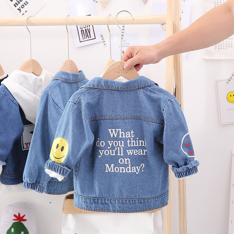 INS Childrenswear Jeans Coat Spring And Autumn 20 New Products Fan Children Childrenswear Western Style Infants Child Boy Autumn