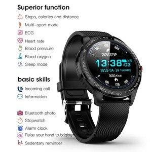 Image 5 - جرينتيجر L9 ساعة ذكية الرجال ECG + PPG معدل ضربات القلب ضغط الدم شاشة عرض نسبة الأكسجين في الدّم IP68 مقاوم للماء بلوتوث Smartwatch VS L5 L7 L8