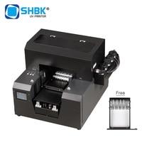 Automatic A4 UV Printer For Cylinder Bottle Phone Case & Portable Printer Handheld Printer For Wood Rubber Plastic. logo printer