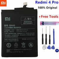Originale Xiaomi Redmi 4 Pro Batteria BN40 4100mAh per Xiaomi Redmi 4 Pro Prime 3G di RAM 32G ROM Edizione di Alta Qualità BN40 Batteria