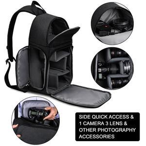 Image 3 - Cadenカメラバッグバックパックショルダースリングバッグ防水ナイロン耐震スクラッチにくい一眼レフ男性女性用