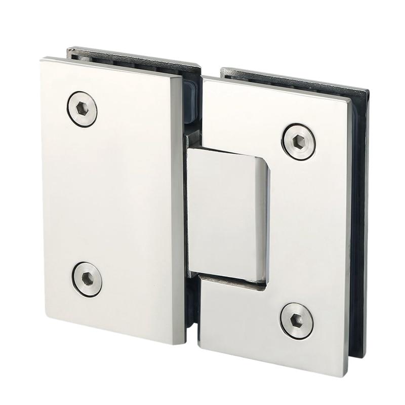 Mejor armario de puertas de cristal de 180 grados de alta resistencia vitrina Clip de vidrio para puerta de ducha bisagra piezas de repuesto Acero inoxidable P