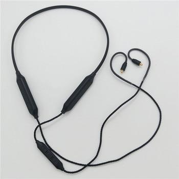 Earphone Cables Hanging Neck MMCX Bluetooth Cable IE80A2DC CSR8645 APTX AAC for Shure SE215 SE315 SE425 SE535 SE846