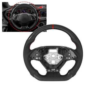 Niestandardowe kierownica z włókna węglowego Nappa perforowana skóra pasuje do Chevrolet Camaro 2016 2017 2018 2019 2020 2021 do samochodu stylowy tanie i dobre opinie DOACT CN (pochodzenie) Steering Wheel Carbon Fiber