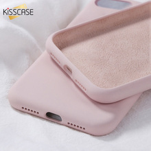 KISSCASE Liquid Soft Silicone Case For iphone 11 Pro X XR XS MAX 7 8 Plus Phone Cases For iphone 7 8 6 6S Plus Candy Color Cover