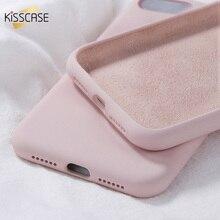 Kisscase 液体ソフト iphone 11 pro x xr xs 最大 7 8 プラス電話ケース 7 8 6 6 s プラスキャンディーカラーカバー