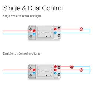 Image 4 - BlitzWolf BW SS4 Grund 2200W 10A 1/2 Weg WIFI DIY Smart Home Schalter Modul Fernbedienung Buchse Arbeit mit Google assistent