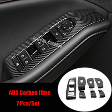 ABS Matte/Carbon Fibre For Mazda CX-30 2020 2021 Accessories Door Window Glass Lift Control Switch Panel Cover Trim Styling sktoo for kia sportage r window lifter switch assembly with the mirror fold the left front door glass levelers switch with high