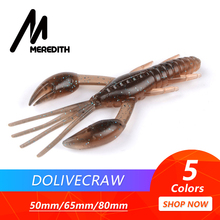 MEREDITH 50mm 65mm 80mm DoliveCraw Fishing Lures Craws Shrimp Soft Lure Bait Wobblers Bass Silicone