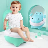 Baby Potty Toilet WC Kids Training Seat Chair Portable Cute Hippopotamus Design Travel Pot Children Toilet With Free Potty Brush
