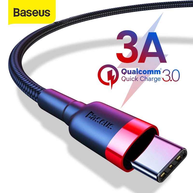 Baseus USB Type C Cable for Samsung S10 S9 Quick Charge 3.0 USB C Cable for Huawei P30 Cable Type C Fast Charging USB TypeC Wire|Mobile Phone Cables| |  - AliExpress