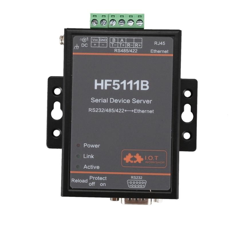 HF5111B Serial Device Server RS232/RS485/RS422 Serial To Ethernet Free RTOS Serial Server F22498(EU Plug)