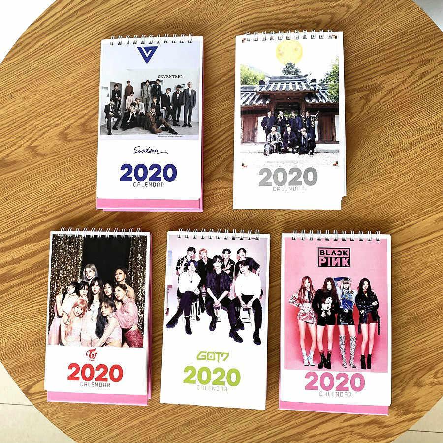 2020 New Year table Calendar blackpink twice got7 TXT album photo Printing calendar bangtan boys jungkook jimin suga v kpop