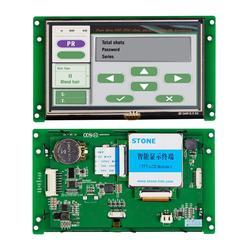 5 inch HMI Smart TFT Lcd-scherm Module met Controller + Programma + Touch + UART Seriële Interface STVC050WT-01