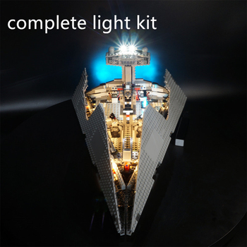 Building Blocks LED Lighting Kit For Imperial-Star Destroyer 75055 Blocks Accessories (LED Included Only, No block Kit) image