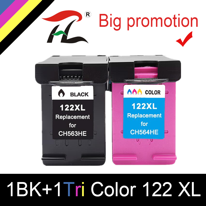 2 Pack for HP 122XL Black /& Tri Color Ink Cartridge CH563HE CH564HE