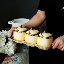 Europejski styl kości słoniowej porcelanowe pudełko do przypraw przyprawy słoiki przyprawy przyprawy solniczka przybory kuchenne tanie tanio CN (pochodzenie) Europejska ceramic