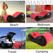 Sofá de aire inflable moderno para adultos, silla de amor, sofá para exteriores y jardín, cama plegable de viaje, cama divertida para acampar