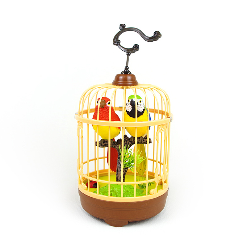 Sensing Electric Sound Control Bird Cage Charging Will Call Will Move The Excluded Bird Model China Bird Electronic