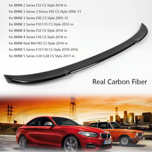 Real Carbon Fiber Car Rear Spoiler for BMW 2/3/4/5 Series F22 E92 E90 F30 F35 F32 F36 M4/F82 F10 F18 G30 G38 CS Style Rear Wing for bmw f36 carbon rear spoiler m4 style 4 series 4 door gran coupe carbon spoiler 2014 2015 2016 up 420i 420d 428i 435i