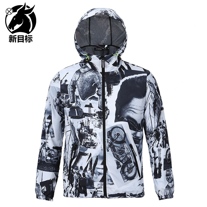 Couples Quick-Dry Coat 2019 New Style Printed Windproof Waterproof Coat Europe And America Outdoor Sports Trench Coat Advertisin