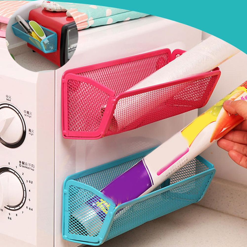 Fridge Magnet Shelf Adsorbing Holder Storage Rack Kitchen Gadget Organizer