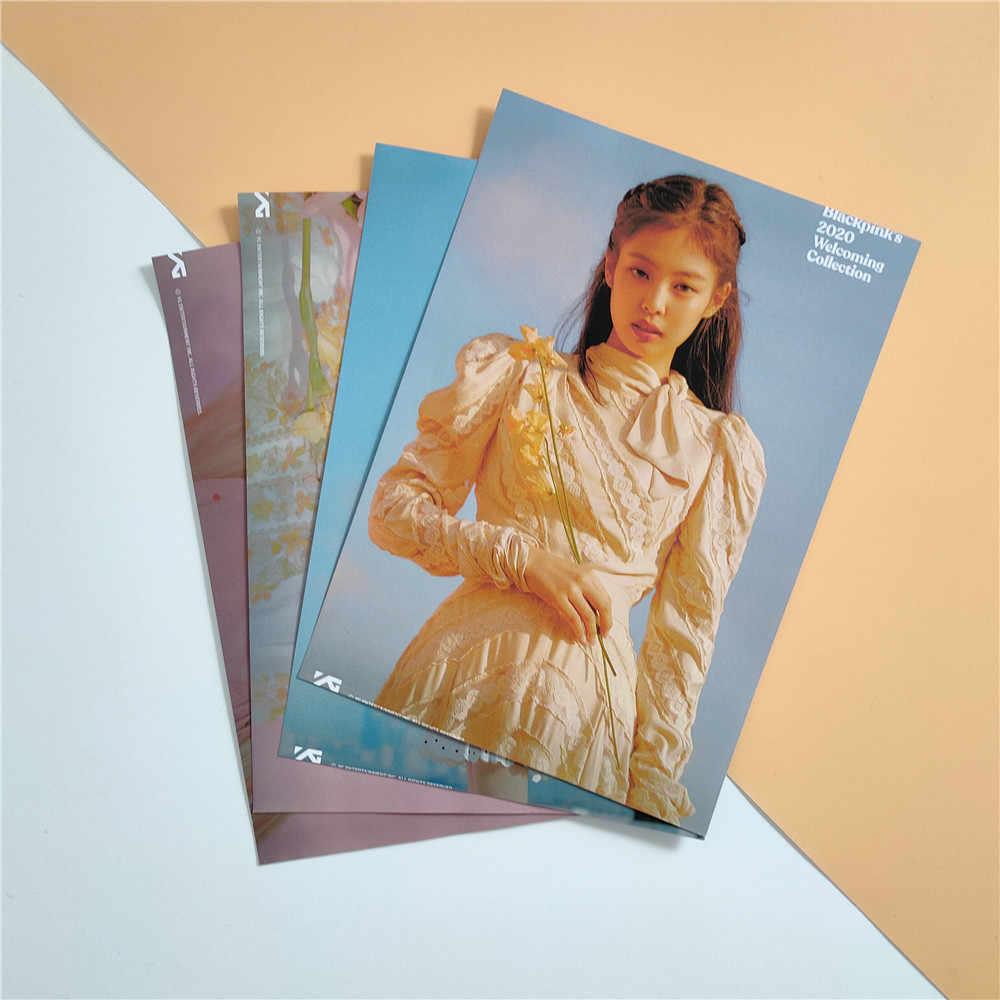 Kpop Blackpink Miếng Dán Poster Cho Người Hâm Mộ Bộ Sưu Tập Lisa Hoa Hồng Jisoo Jennie Poster Dán Lên Tường Kpop Blackpink Poster