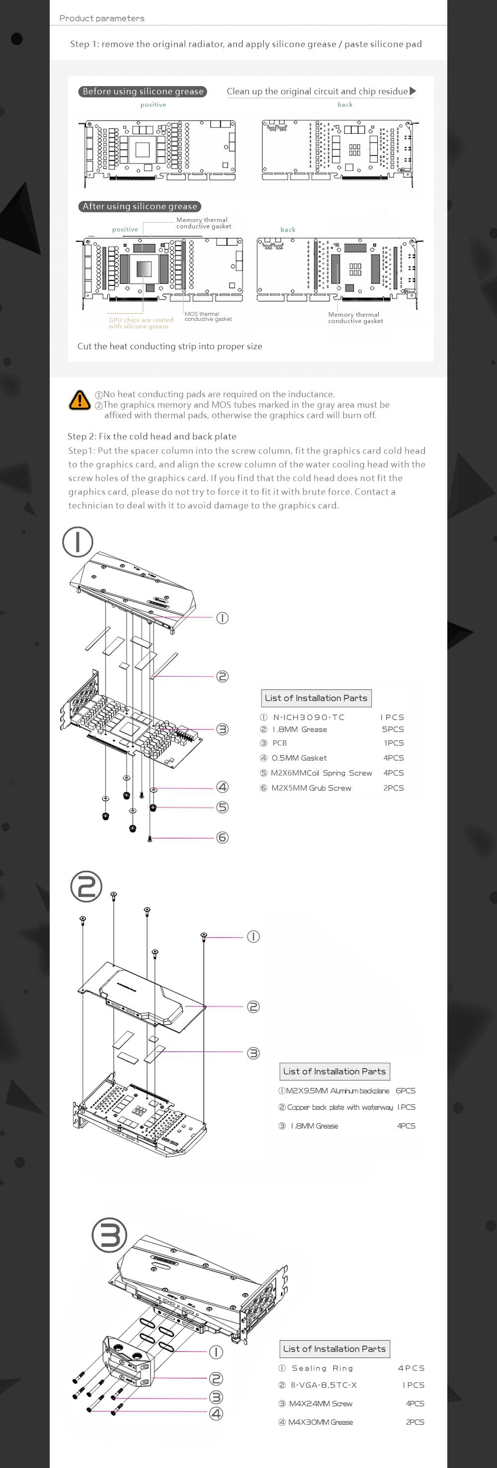 Bykski N-ICH3090-TC GPU Water Block with Waterway Copper Backplate Cooler For Inno3D ICHILL GeForce RTX 3080 3090