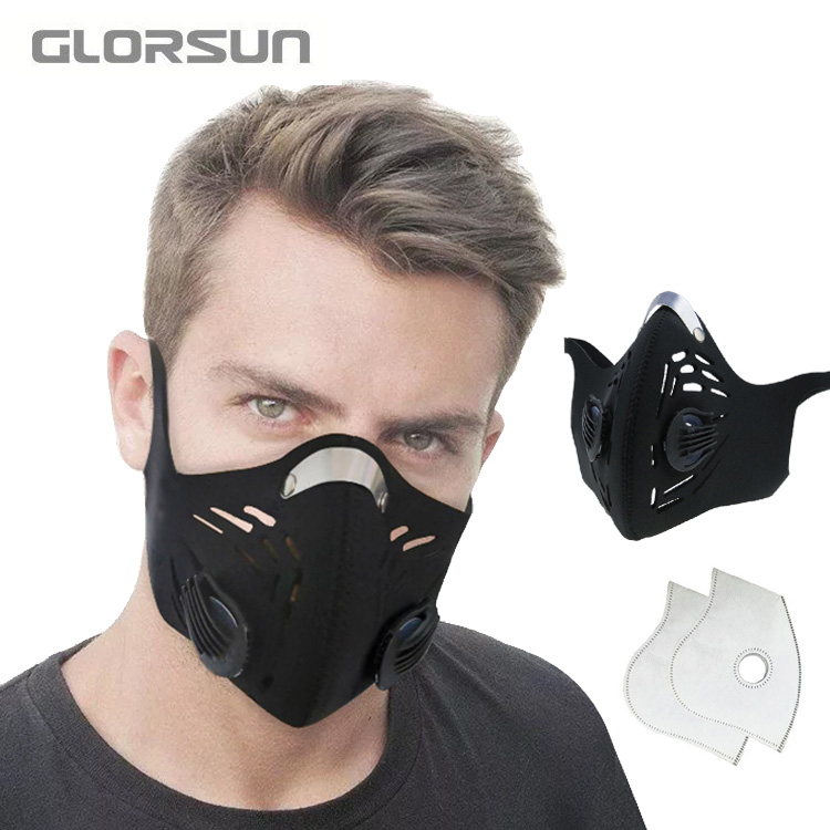 GLORSUN Dust Mask Neoprene New Product Fashion Custom Printed Cotton N95 Anti Anti Pm2.5 Dust Smog Mask Cycling N95 Mask
